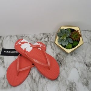 Karl Lagerfeld Coral Sandals Size 7